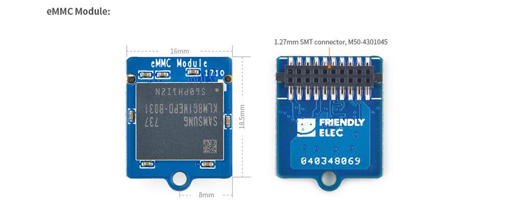 RealQvol Friendlyarm eMMC Module 8GB/16GB/32GB Hi quality Support