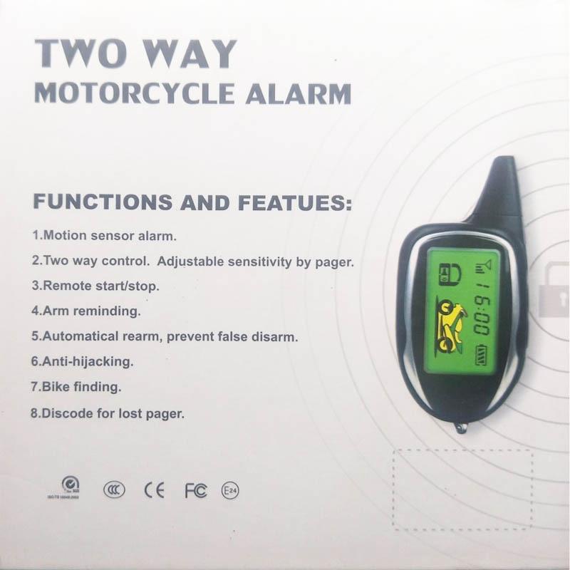 Motorcycle Anti-theft Protection Full Function Vibration sensor Displacement sensor Tilt sensor 2-Ways moto alarm system 3502080 canemu anti theft simulator