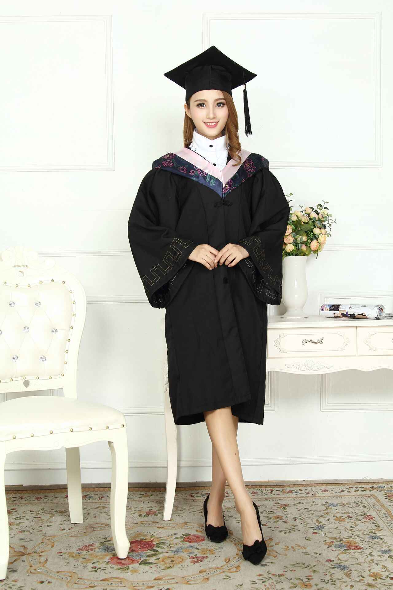 2893723d7 ... Adult Performance Academic Dress Gown Women University Graduation  Clothing Robe +Hat Master s Degree Gown Bachelor ...