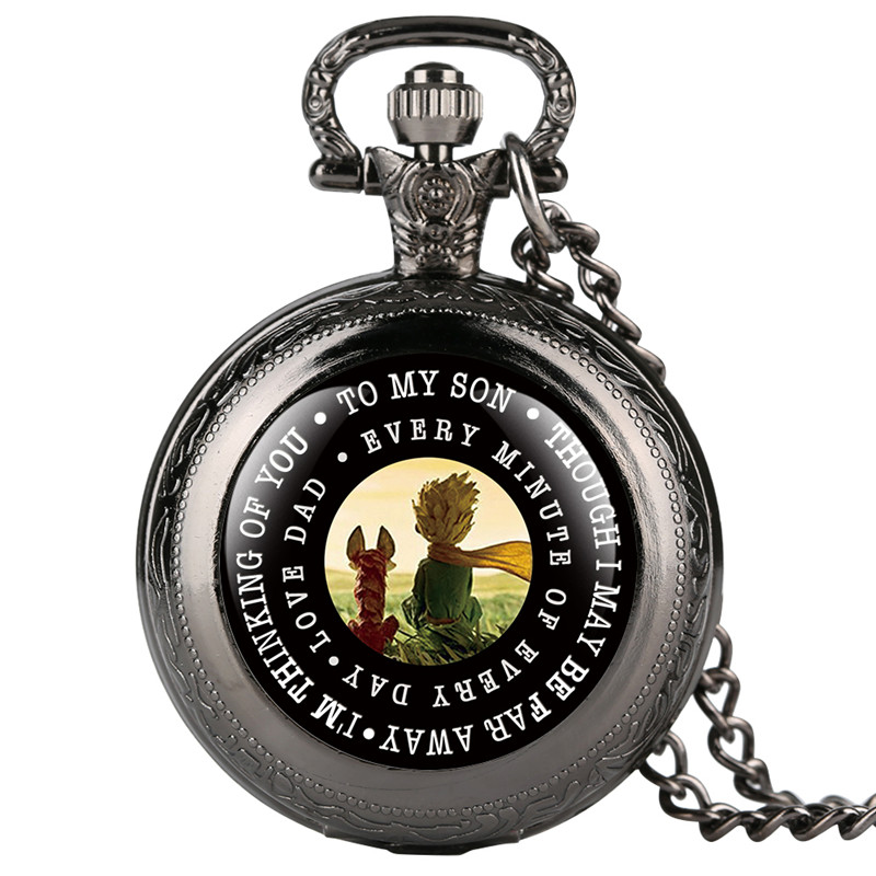 Little Prince Pattern Pocket Watch For Women Men Classic Dial Quartz Pocket Watch Retro Fashion Chain Gift For Pocket Watch