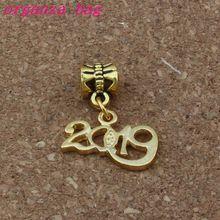 100pcs/lot  2019 Dangles charm Beads Fit European Charm Bracelet Jewelry DIY Metal 18.5x26mm A-376a