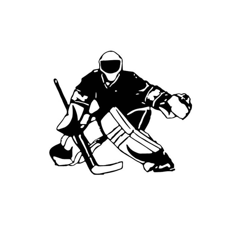 13.3*12см хоккеист мультфильм автомобиль наклейки украшение автомобиля личность Водонепроницаемый Виниловые наклейки черный/серебристый С7-0088