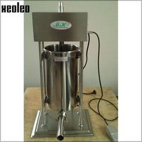 Xeoleo Commercial Electric Sausage stuffer machine 15L Sausage filling machine Automatic Stainless steel Sausage filler 110/220V