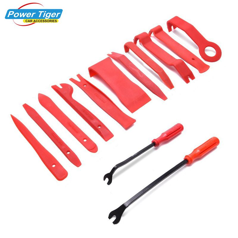 13Pcs/Set Car Audio Maintenance Kits Auto Trim Removal Tool Set with Fastener Removers Strong Nylon Door Panel Repair Tool Kit 13pcs set professional piano tuning maintenance tool kits hammer screwdriver with case