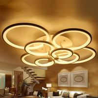 Remote Control 4 6 8 Heads Modern Led Ceiling Lights Luminarias Living Room Bedroom Lamparas De