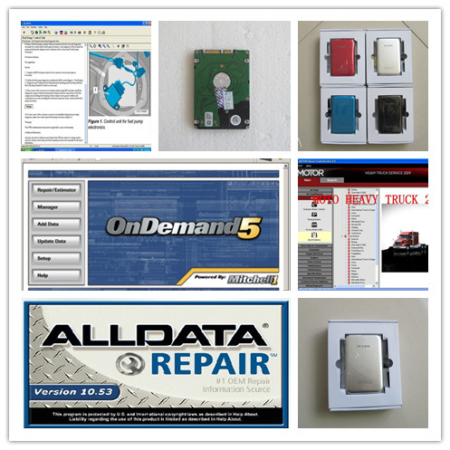 truck and car software alldata 10.53 mitchell ondemand + motor heacy truck service with Keygen auto Manual 3in1 hdd 750gb