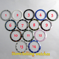 1 Pic 38MM Ceramic Red Black Blue Green Bezel 14 Color Chosen Insert Fit Automatic 40mm