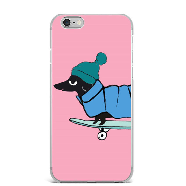 Soft Silicone Colorful Dachshunds Printed iPhone Cases
