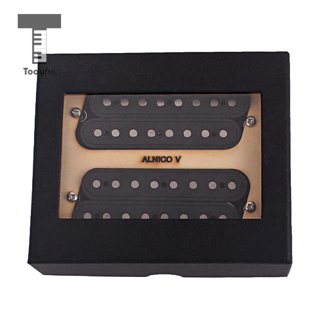 Neck&Bridge Pickup Set Alnico 5 Humbucker for 8 String Guitar Parts tooyful set guitar pickup double coil humbucker alnico 5 rosewood for sg st fender electric guitar diy