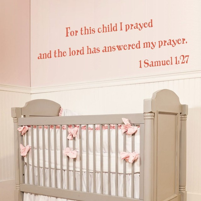 For This Child I Have Prayed Nursery Wall Decal Vinyl Quote Lettering