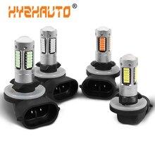 HYZHAUTO 1 шт. H27 881 светодиодный ные Противотуманные фары 4014 30SMD Автомобильные светодиодные противотуманные фары s дневные ходовые огни дальняя ...