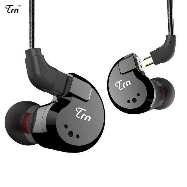 TRN V80 2BA+2DD Hybrid Metal In Ear Earphone IEM HIFI DJ Monito Running Sport Earphone Earplug Headset 2Pin Detachable V20/V60