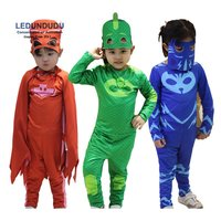 2017 PJ Masks Birthday Party Dress Set PJ Masks Jumpsuits Kids Halloween Connor Greg Amaya Cosplay