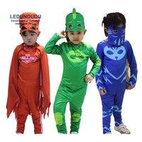 2017 PJ Masks Birthday Party Dress Set PJ Masks Jumpsuits Kids Halloween Connor Greg Amaya Cosplay