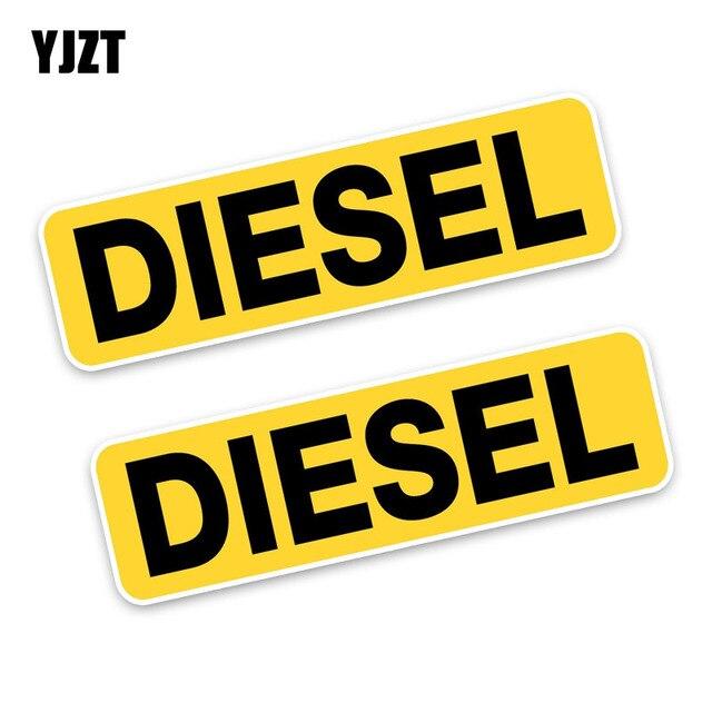 YJZT 2x10,6*3 см напоминание дизельное топливо только мода смешной ретро-светоотражающие наклейки автомобиля наклейки C1-8259