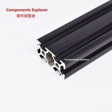 Произвольная резка 1000 мм 2040 черный алюминиевый экструзионный профиль, черный цвет