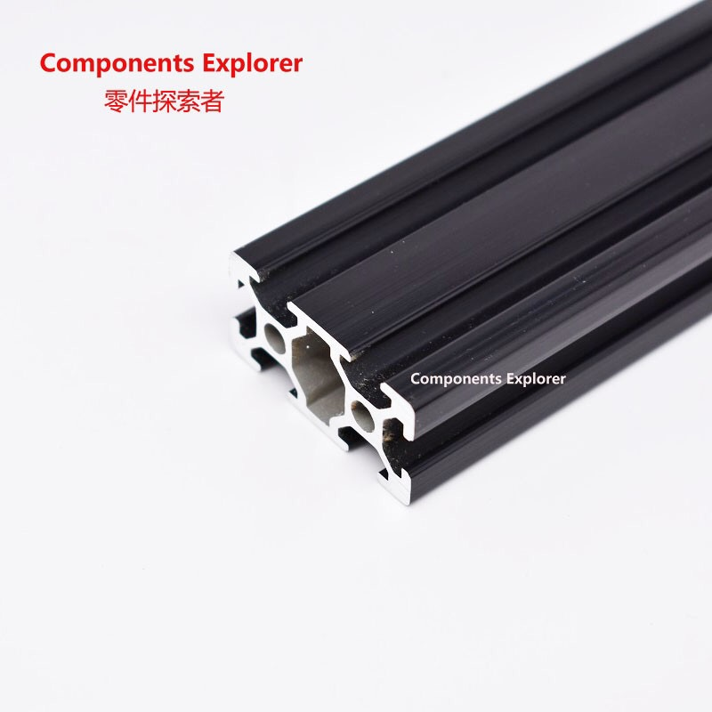 Arbitrary Cutting 1000mm 2040 Black Aluminum Extrusion Profile,Black Color.