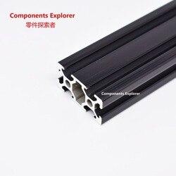 Beliebige Schneiden 1000mm 2040 Schwarz Aluminium Extrusion Profil, Schwarz Farbe.