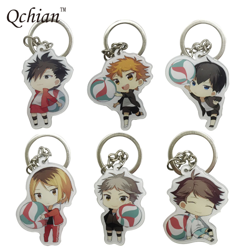 Haikyuu !! Ukrainian High School Volleyball Team PVC Decorative Pendant Anime Cosplay Keychain Event Commemorative Gifts