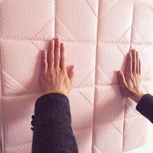 Самоклеящиеся обои, кожа, мягкий, водонепроницаемый, толстый, трехмерный гостиной ТВ стены-153