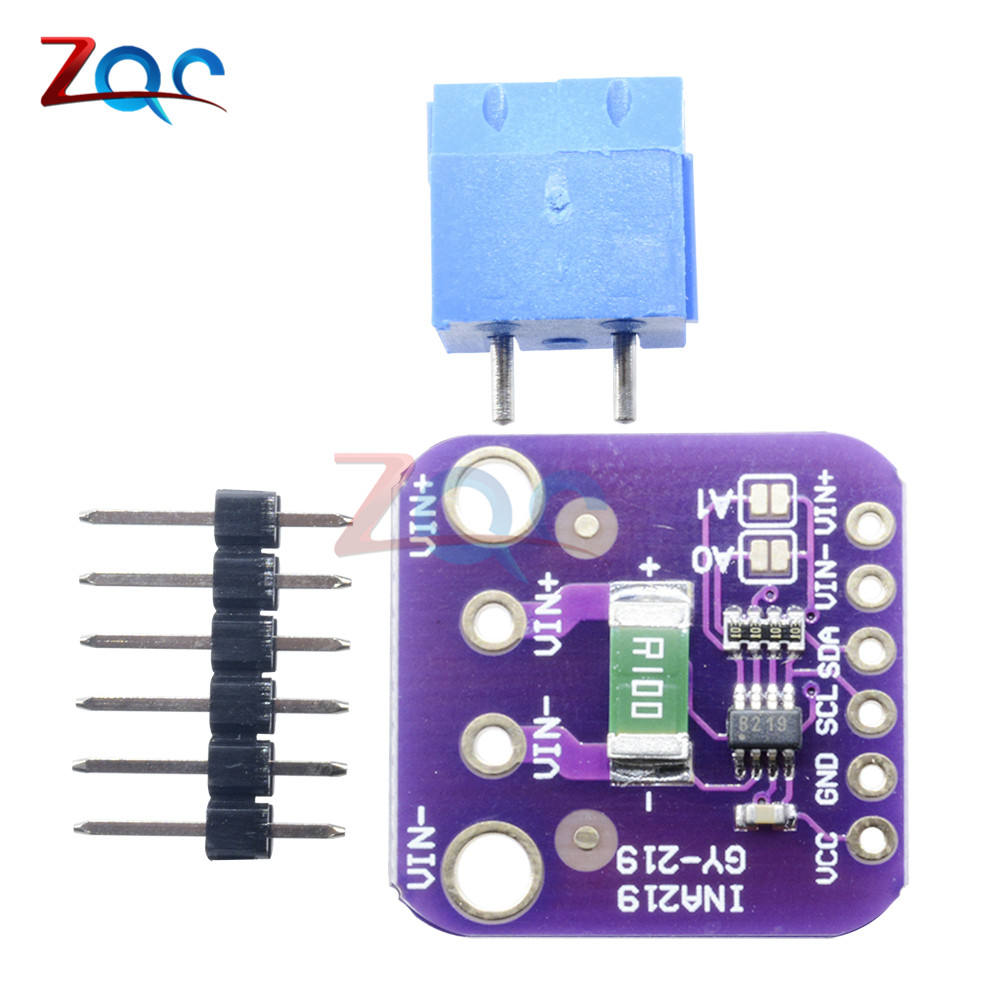 US $1 43 29% OFF|INA219 GY 219 I2C Interface High Side DC Current Sensor  Breakout Power Supply monitoring Bi direction Sensor Module-in Pressure