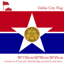 Free shipping Dallas City Flag 90*150cm 60*90cm Flag 30*45cm Car Flag 3x5ft High-quality Banners For Event / Home decoration free shipping little canada city flag 3x5ft banners with brass metal holes 30 45cm car flag 90 150cm 60 90cm flag for vote event