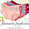 4 plaid young girl panties trigonometric women's modal panties 100% cotton breathable