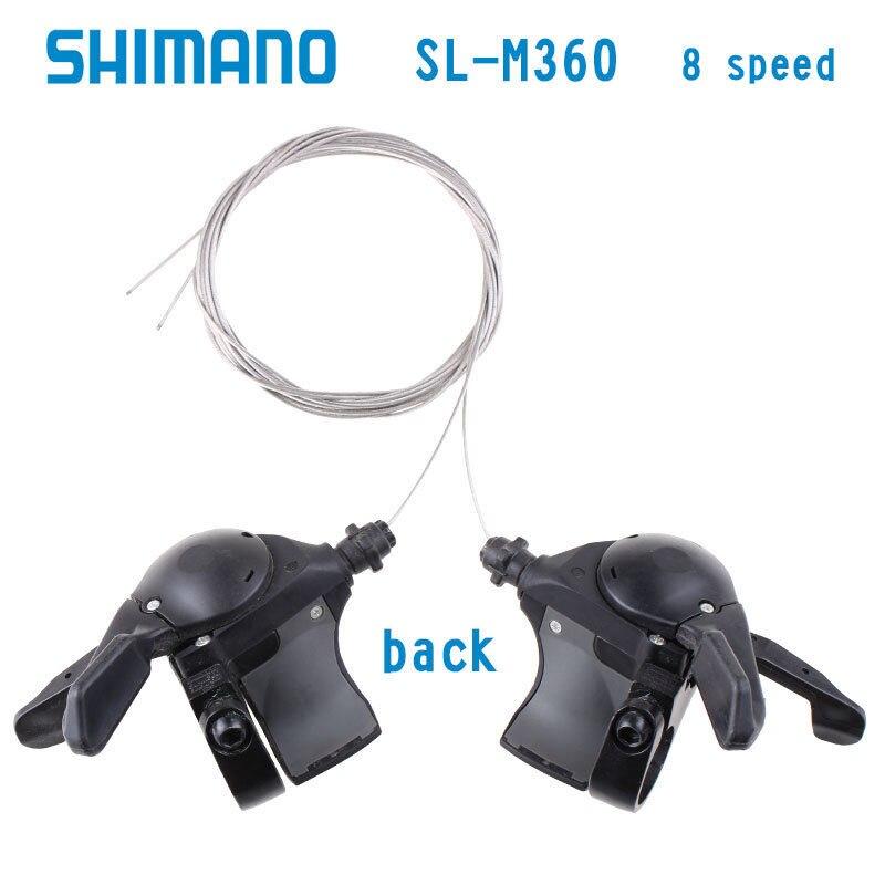 3x8 24 vitesses Levier de vitesse Déclencheur de câble Noir pour Shimano Acera