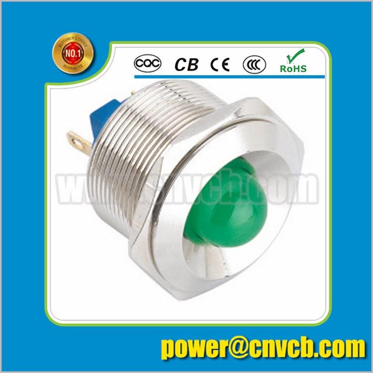 IN98 high quality 25mm 2pin termianl IP67 waterproof pilot lamp pilot lamp