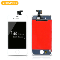 20 PCS Wholesale Grade AAA Quality LCD Display For iPhone 4S Touch Screen With Digitizer Assembly in White and Black