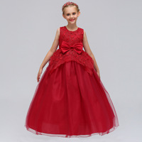 Lovely Lace Appliques Flower Girl Dresses Kids Evening Gowns For Wedding Princess Party Dresses Children Clothes