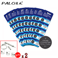 50pcs! PALO 150mAh baterias CR2450 3V Lithium Battery Button Cell Coin Battery for Watch Calculator Toy Electronic Device