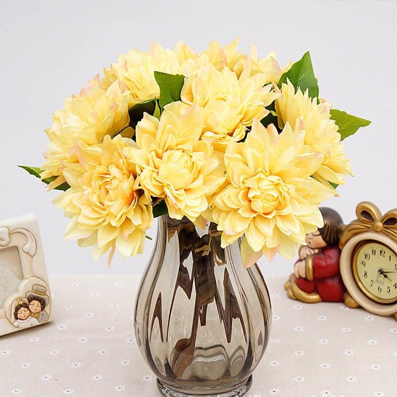 Artificial Peony Plastic Flowers Bride Bouquet Autumn Decor