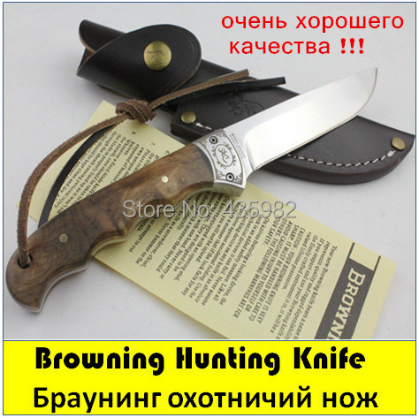 OEM Browning Shadow Wood Fixed Hunting Knife ,Camping tool Survival Outdoor rescue knives - Cina4U Kinfe store