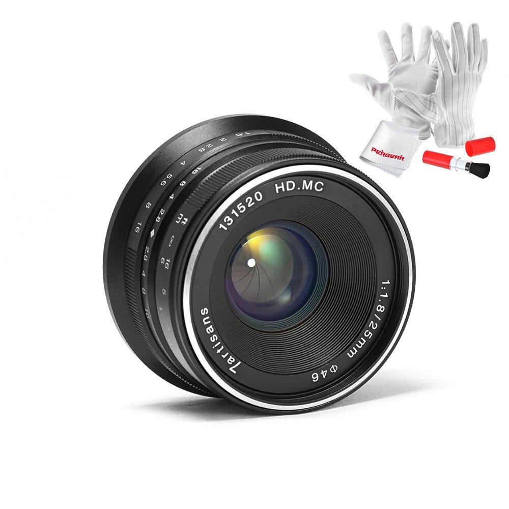 7 artesanos 25mm/F1.8 Prime lente a todo sola serie para e montaje/para micro 4/3 cámaras a7 A7II A7R A7RII X-A1 X-A2 G1 G2 G3