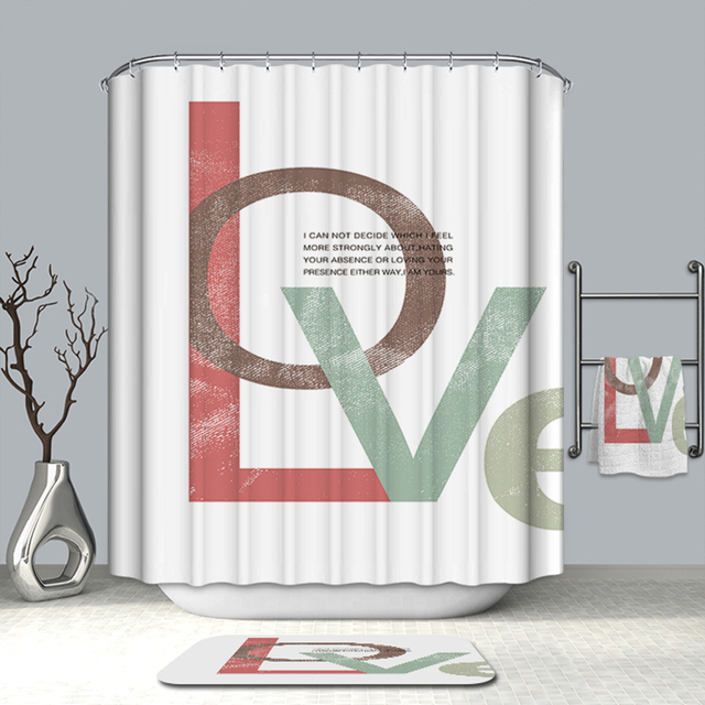 Summer Simple 3D Shower Curtain Cartoon Man Mike Dance Pattern Polyester Washable Bath Bathroom Products Hook