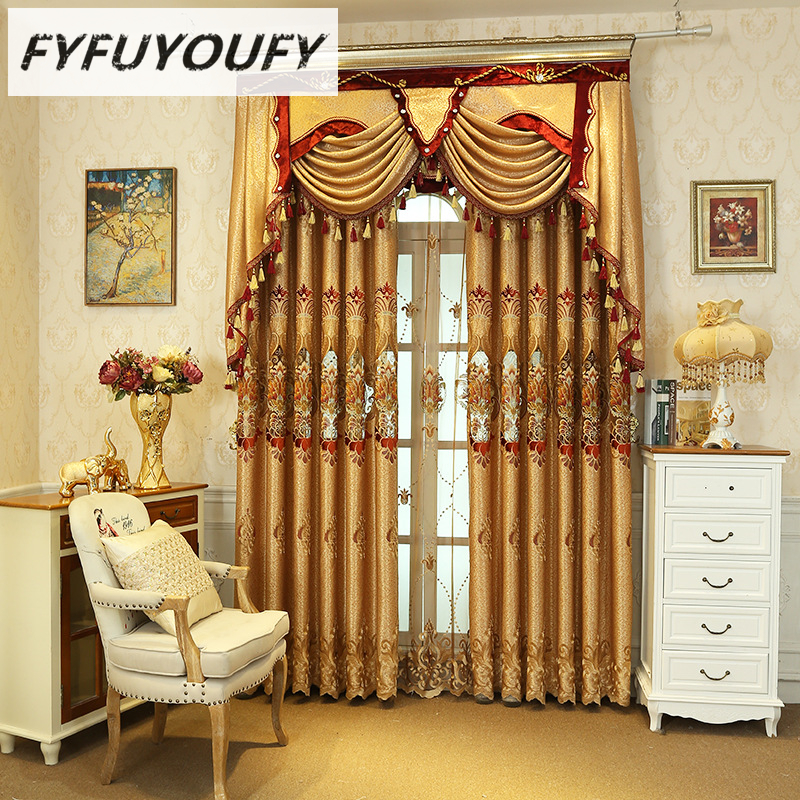 2 Color Europe Curtains For The Livingroom High End
