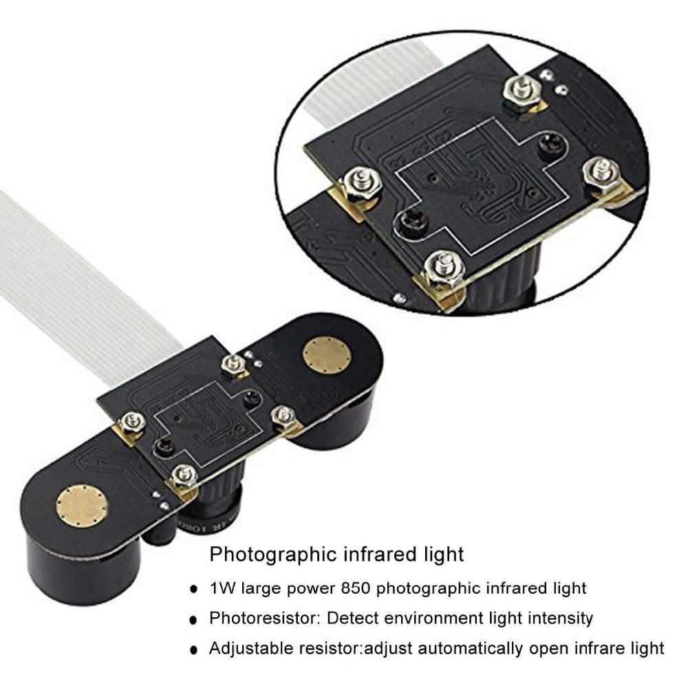 ل التوت بي كاميرا للرؤية الليلية كاميرا قابل للتعديل التركيز وحدة 5MP OV5647 كاميرا فيديو 1080p ل التوت بي 2/3/B/B +