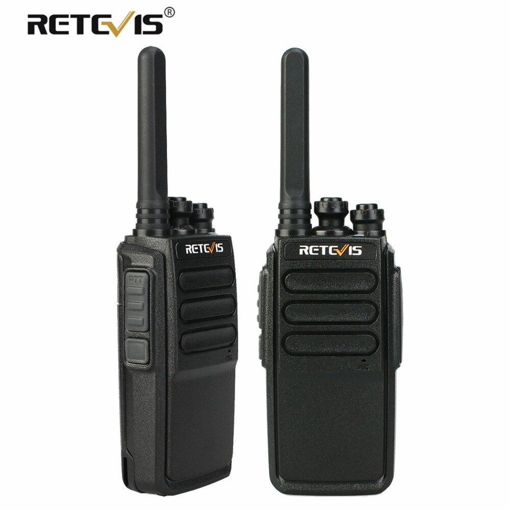 Retevis RT28 Walkie Talkie 2 piezas Micro USB carga 16 CH VOX manos libres CTCSS/DCS manejar de dos transmisor de Radio bidireccional walkie-talkie