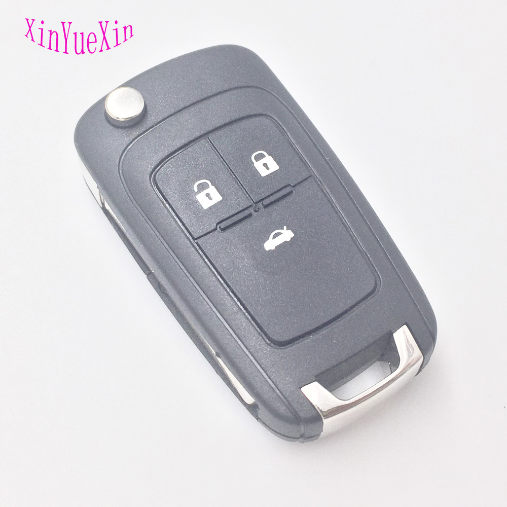 XinYueXin 3Buttons Flip Key For VAUXHALL OPEL Insignia Astra J Zafira C Mokka Corsa E Adam Remote Folding Key Shell 3Button 1044