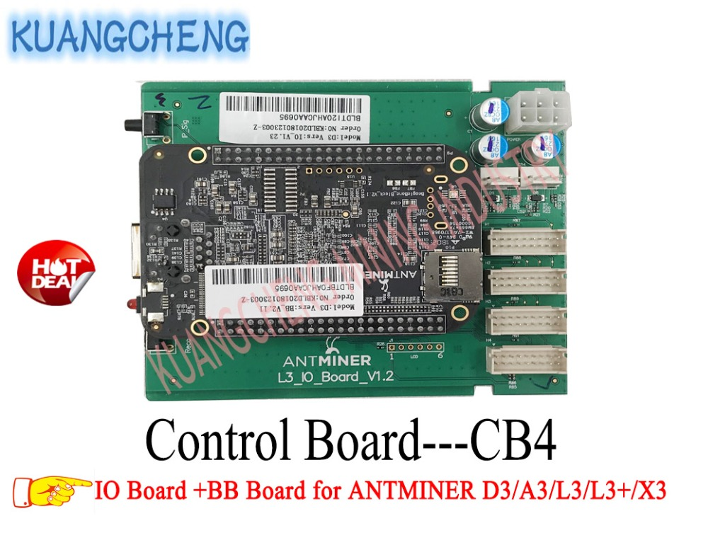 KUANGCHENG MINING Antminer D3 Control Board Include IO Board And BB Board Motherboard for ANTMINER D3/A3/L3/L3+/X3 MINERS antminer l3 d3 x3 new control board include io board and bb board control board for antminer l3 d3 x3 from yunhui