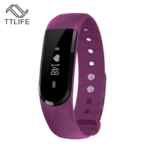 TTLIFE Бренд 2016 г. наиболее популярных смарт-браслет bluetooth Носимых Смарт-браслеты фитнес Мода умные часы для iOS Andoid