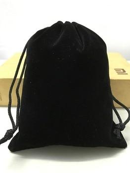 100pcs Direct Manufacturer drawstring velvet jewelry bag custome 15*17cm black gift velvet pouch for jewelry packaging