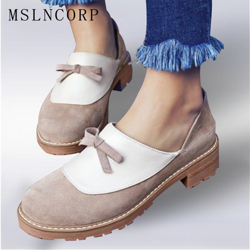 Plus Size 34-43 British style vintage oxfords shoes women Mixed colors ladies Flats Slip On Loafers Footwear Casual Ladies Shoes cootelili women flats genuine leather shoes woman casual loafers slip on round toe ladies oxfords white plus size 40 41 42 43