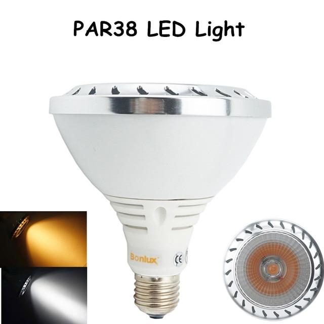 Aluminum PAR38 LED Spotlight Bulb 20W 1800lm CREE COB LEDs E26/27 Medium Screw Base Light with 150W Halogen Bulb Replacement