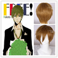 Free Shipping Makoto Tachibana 25cm Short Straight Men Brown Cosplay Wig For Party ZY44