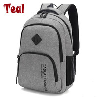 2017 New Men S Shoulder Bag Male Canvas Travel Backpack Computer Bag High School Student College