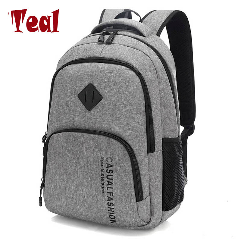 2018 New Fashion Men's Backpack Bag Male Canvas Laptop Backpack Computer Bag high school student