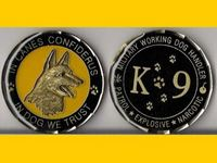 K9 Handler Army Navy Marine Air Force Military Police Challenge Coin In dog we trust, Round coins. Sample! DHL Free shipping