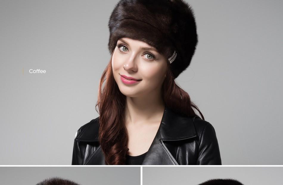 mink fur hat female winter PCM027 (11)